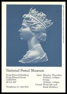GB 1983 POSTAL MUSEUM POSTCARD MACHIN HEAD DEFINITIVES POSTCARD MNH - United Kingdom