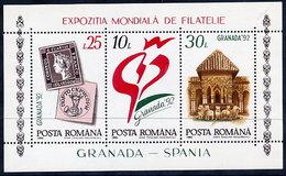 ROMANIA 1992 GRANADA '92 Exhibition Block MNH / **.  Michel Block 272 - Blocks & Sheetlets