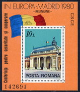 ROMANIA 1980 European Security Conference  Block MNH / **.  Michel Block 174 - Blocks & Sheetlets