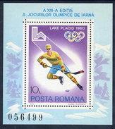 ROMANIA 1979 Winter Olympics  Block MNH / **.  Michel Block 164 - Blocks & Sheetlets