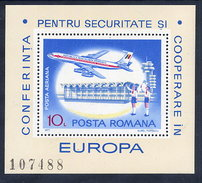 ROMANIA 1977 European Security Conference Block MNH / **.  Michel Block 143. - Blocs-feuillets