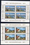 ROMANIA 1977 INTEREUROPA Blocks MNH / **.  Michel Block 141-42. - Blocks & Sheetlets