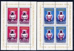 ROMANIA 1976 INTEREUROPA  Blocks MNH / **.  Michel Block 133-34 - Blocks & Sheetlets