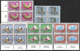 SCHWEIZ SUISSE Pro Patria 1960: Mineralien & Fossilien Zu 96-100 Mi 714-718 Yv 661-665 MIT TAB & ET-o (Zu  CHF 127.00) - Minéraux