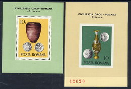 ROMANIA 1976 Dacian-Roman Archaeology  Blocks MNH / **.  Michel Block 131-32 - Blocks & Sheetlets