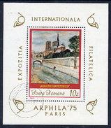 ROMANIA 1975 ARPHILA '75 Exhibition  Block Used.  Michel Block 120 - Blocks & Sheetlets