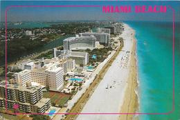 MIAMI BEACH Looking North With Its Wide Beach And Boardwalk - Miami Beach