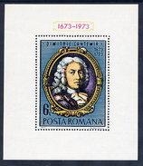 ROMANIA 1973 Cantemir Tercentenary Block MNH / **.  Michel Block 105 - Blocks & Sheetlets