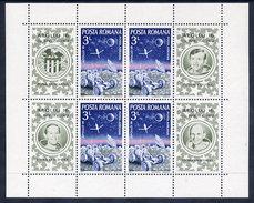 ROMANIA 1972 Apollo 16 Space Flight Block MNH / **.  Michel Block 95 - Blocks & Sheetlets