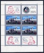 ROMANIA 1971 Apollo 15 Space Flight Block MNH / **.  Michel Block 88 - Blocks & Sheetlets