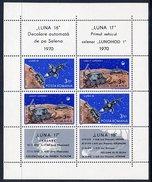 ROMANIA 1971 Moon Landers Block MNH / **.  Michel Block 82 - Blocks & Sheetlets