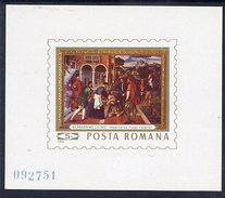 ROMANIA 1969 Licinio Painting  Block MNH / **.  Michel Block 73 - Blocks & Sheetlets