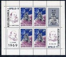 ROMANIA 1969 Apollo 11 Moon Flight  Block MNH / **.  Michel Block 72 - Blocks & Sheetlets