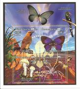 1996 Mali Fauna Mushrooms Birds Miniature Sheet Of 4 MNH - Mali (1959-...)