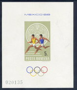 ROMANIA 1968 Olympic Games  Block MNH / **.  Michel Block 67 - Blocks & Sheetlets