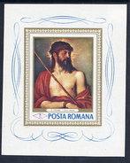 ROMANIA 1968 Titian Painting Block MNH / **.  Michel Block 65 - Blocks & Sheetlets
