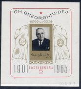 ROMANIA 1966 Gheorghiu-Dej Block MNH / **.  Michel Block 61 - Blocks & Sheetlets