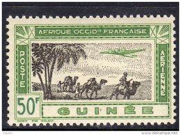 Guinée P.A.  N° 17  XX  Série De Londres : 50 F. Vert-jaune Et Brun-olive   Sans Charnière, TB