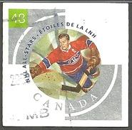 Sc. # 1972f  NHL All Stars #4, Bill Durnan Single Used 2003 K1163 - 1952-.... Règne D'Elizabeth II