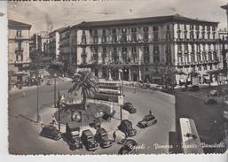 Napoli Vomero Piazza Vanvitelli Car Auto Bus Filobus Vg - Napoli