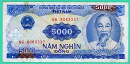 5000 Dông - Viêt-Nam - N° GG 8083337- 1991 - TTB - - Vietnam