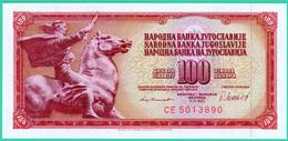 100 Dinars - Yougoslavie - N° CE 5013890 - 1981 - Neuf - - Yougoslavie