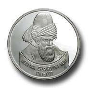 AC - MEVLANA JALAL AD-DIN MUHAMMAD RUMI COMMEMORATIVE SILVER COIN 2001 TURKEY PROOF UNCIRCULATED - Turkey
