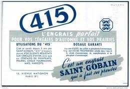 Buvard : Engrais De Saint-Gobain, Engrais Pour Céréales : Le 415 - Farm