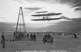 L'Aéroplane De Wilbur Wright - Autour Du Pylone  -  CPA - Aviadores