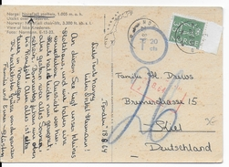 1964 - TAXE - NACHGEBÜHR - CARTE De NOREFJELL Pour KIEL (GERMANY) - Brieven En Documenten