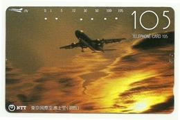 Giappone - Tessera Telefonica Da 105 Units T214 - NTT, - Aerei
