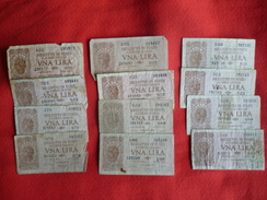 Banconote 1 Lira Biglietto Di Stato Lotto X 12 Italia - Italia – 1 Lira