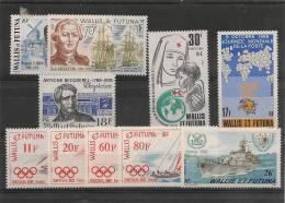 WALLIS ET FUTUNA  Année 1988 Complète  N°375/384** Côte 16,15 € - Wallis And Futuna