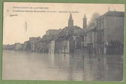 CPA - YVELINES - INONDATIONS DE JANVIER 1910 - CONFLANS SAINTE HONORINE - QUARTIER DU CAILLON - - Conflans Saint Honorine