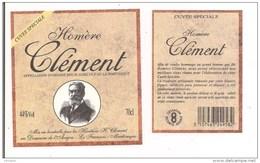 Etiquette Vieux  Rhum Agricole CLEMENT - Cuvée Spéciale Homère Clement ( Médecin, Planteur Et Député ) -  MARTINIQUE - - Rhum