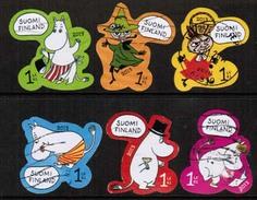 2013 Finland, Moomin Favorites, Complete Set Used.