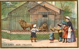 Chromos    CHOCOLAT POULAIN LA CAGE AUX FAUVES - Poulain