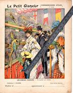 Couverture Protège Cahier PERROQUETS MARCHE Aux Oiseaux Parleurs / LE PETIT GLANEUR  / Coll. C.CHARIER - Protège-cahiers