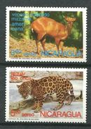 189 NICARAGUA 1974 - Yvert 823/24 - Cerf Venado Felin Jaguard - Neuf ** (MNH) Sans Trace De Charnière - Nicaragua