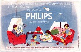 Buvard Philips, Pour Un Bon éclairage. - Buvards, Protège-cahiers Illustrés