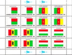 United Nations NY MNH 1980 Scott #337-#340 Flags: Madagascar, Cameroon, Rwanda, Hungary - New-York - Siège De L'ONU