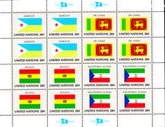 United Nations NY MNH 1981 Scott #350-#353 Flags: Djibouti, Sri Lanka, Bolivia, Equatorial Guinea - Neufs
