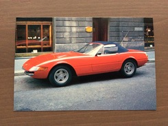 Cartolina In Bianco Del 1991 Ferrari Daytona 365 GTS 4 - Grand Prix / F1