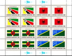 United Nations NY MNH 1982 Scott #378-#381 Flags: Mozambique, Albania, Dominica, Solomon Islands - Neufs