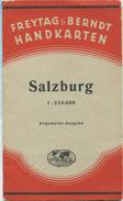 Salzburg - Allgemeine Ausgabe 1937 - Freytag & Berndt Handkarten - Maßstab 1:250'000 - 68cm X 85cm - Landkarten