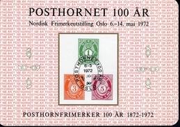 Norwegen Vignette Briefmarkenausstellung 72 Posthornmarken MNH Postfrisch ** - Hojas Bloque