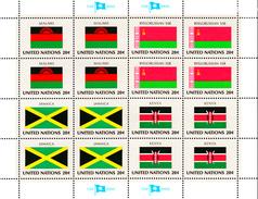 United Nations NY MNH 1983 Scott #403-#406 Flags: Malawi, Byelorussian SSR, Jamaica, Kenya - Neufs