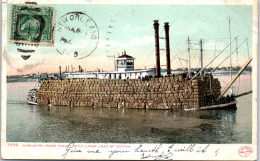 USA - LOUISIANE - Mississippi River Packet With Large Load Of Cotton - Etats-Unis