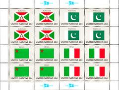 United Nations NY MNH 1984 Scott #425-#428 Flags: Burundi, Pakistan, Benin Italy - Neufs