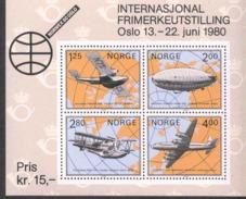 Norwegen Block 2 Briefmarkenausstellung VORWEX 1980 MNH Postfrisch **